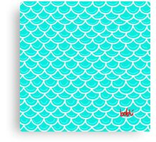 Fish scales turquoise Canvas Print