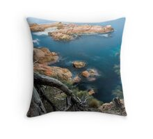 Tasmanian Coastline Throw Pillow