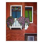 Colorful windows of Venice art print by Melissa Goza