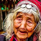 Tribal, very old and blind, Chiang Mai, Thailand by indiafrank