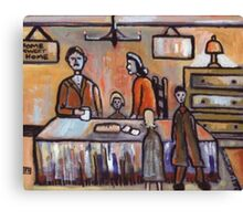 The Family (from my original acrylic painting) Canvas Print