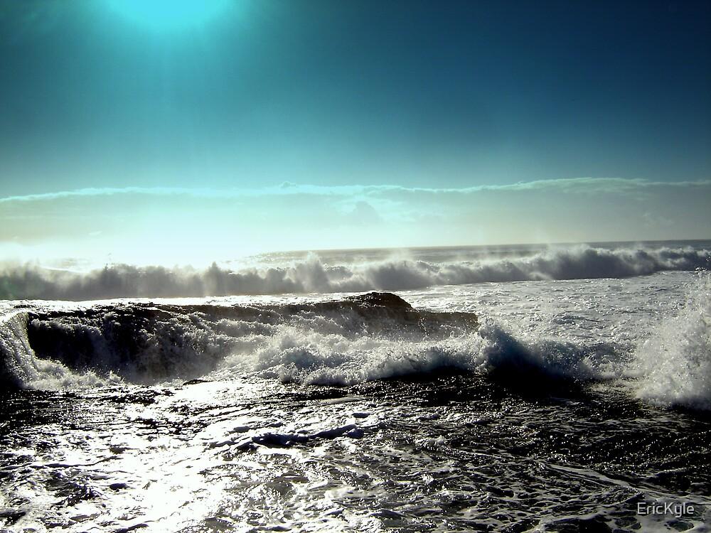 BLUE LIGHTOVER THE OCEAN by EricKyle