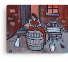 The poss tub (from my original acrylic painting) Canvas Print