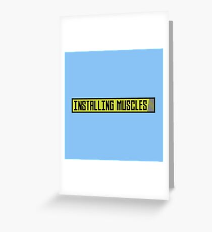 Installing muscles workout Rh1sq Greeting Card