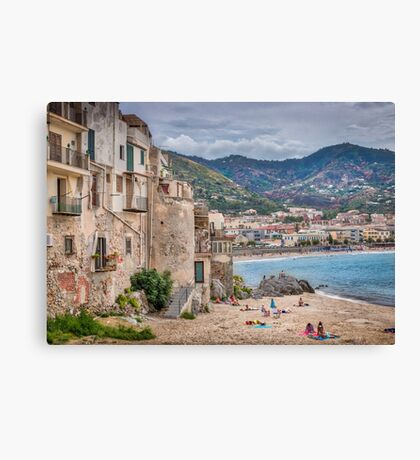 Beside the Sea Canvas Print
