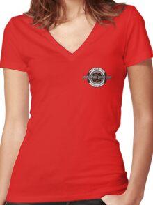 JDM Vintage Wheel Club Women's Fitted V-Neck T-Shirt