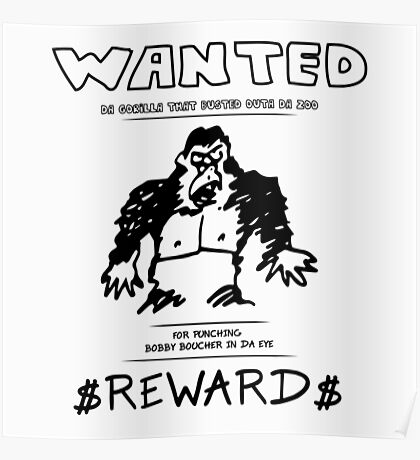 Wanted Gorilla - The Waterboy - Light Poster