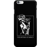 The Sisters Of Mercy - The Worlds End - Front Black and White iPhone Case/Skin