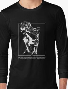 The Sisters Of Mercy - The Worlds End - Front Black and White Long Sleeve T-Shirt