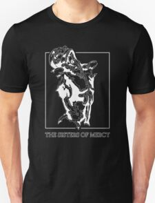 The Sisters Of Mercy - The Worlds End - Front Black and White Unisex T-Shirt