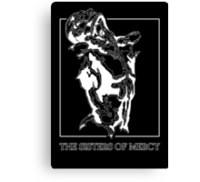 The Sisters Of Mercy - The Worlds End - Front Black and White Canvas Print
