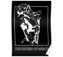 The Sisters Of Mercy - The Worlds End - Front Black and White Poster