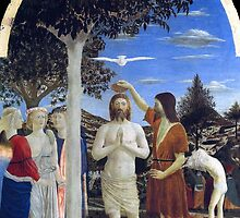 'Baptism of Christ' by Piero della Francesca by Legacy1Gallery