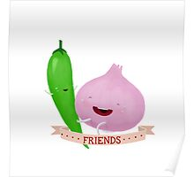 Friends: Mr Chile and Ms Onion Poster