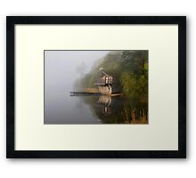 Ullswater Boathouse in the Mist Framed Print