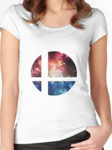 Super Space Bros.    SSB logo Women's Fitted Scoop T-Shirt