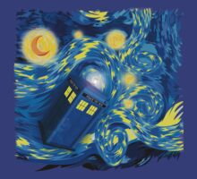 Space and time traveller phone box Starry the night Cartoons by Arief Rahman Hakeem