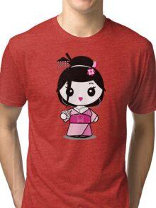 Geisha Grooves Tri-blend T-Shirt