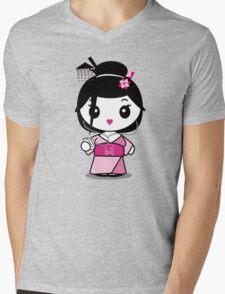 Geisha Grooves Mens V-Neck T-Shirt