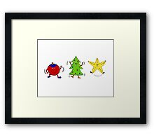 Christmas characters - complete set  Framed Print