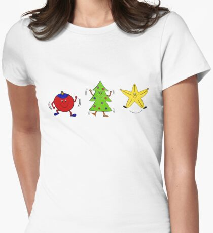 Christmas characters - complete set  Womens Fitted T-Shirt