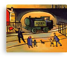 The train (from my original acrylic painting) Canvas Print