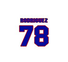 National baseball player Guillermo Rodriguez jersey 78 Photographic Print