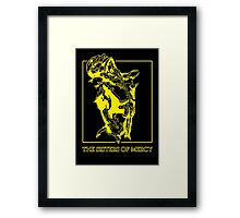 The Sisters Of Mercy - The Worlds End - Front Yellow -Under The Gun Framed Print