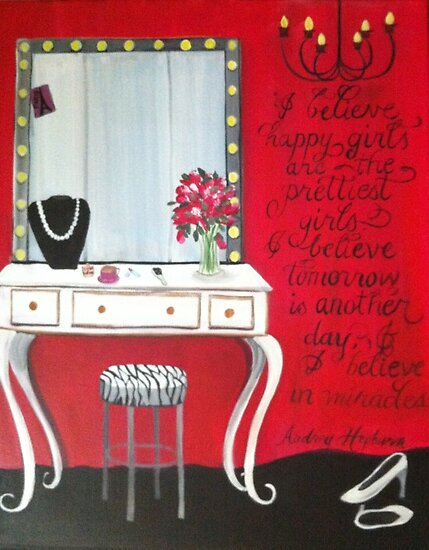 Dressing table painting  by Melissa Goza