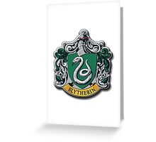 Slytherin Crest - Harry Potter Greeting Card