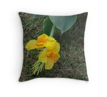 Lovely Leopard spotted Canna Lilly Throw Pillow