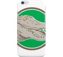 Alligator Head Snout Circle Retro iPhone Case/Skin