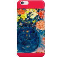 Romance Flowers in Blue Vase Designer Art Decor & Gifts iPhone Case/Skin