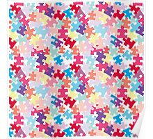 Puzzels for Autism - Pastel/Bright Color way Poster