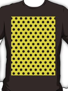 Polkadots Yellow and Black T-Shirt