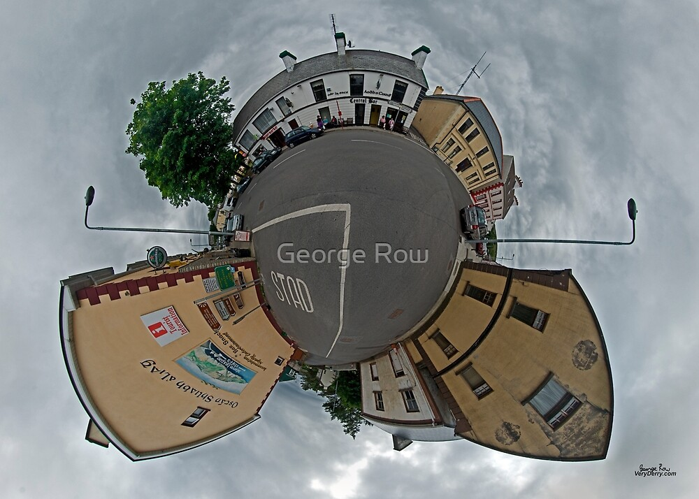 Carrick Crossroads, Donegal - Sky Out by George Row