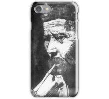 Old Man Smoking iPhone Case/Skin