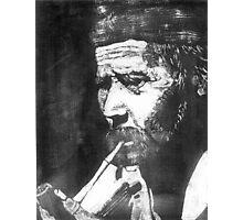 Old Man Smoking Photographic Print