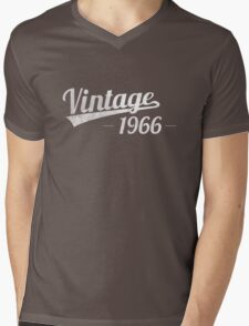 Vintage 1966 Mens V-Neck T-Shirt