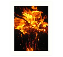 Fire Fight #3 Art Print