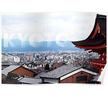 View over Kyoto Poster
