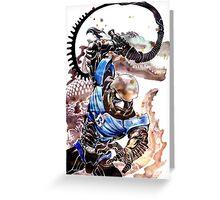 Hakaida Blue Greeting Card