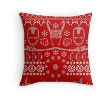 Have a MARVEL-ous Christmas! Throw Pillow