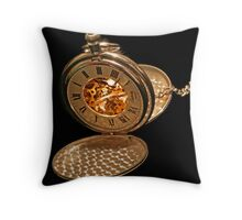 Keeping time Throw Pillow