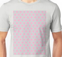 Polkadots Beige and Pink Unisex T-Shirt