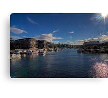 Trondheim - Two Hours of Sunshine Canvas Print
