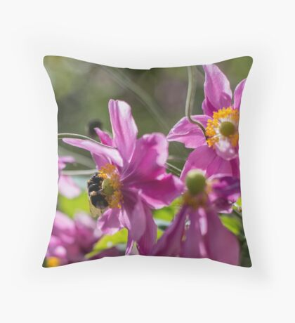 Bumble Bee's Delight Throw Pillow