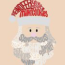 Santa Claus Lettering by Neil K