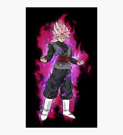 Black Goku Super Saiyan Rose Photographic Print