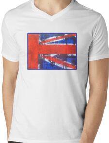 Oasis Union Jack Part1 Mens V-Neck T-Shirt